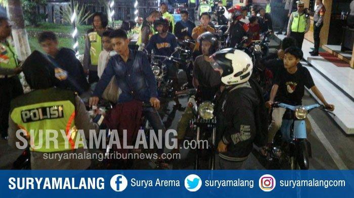 Razia Balap Liar di Kota Blitar, Polisi Sita 77 Motor