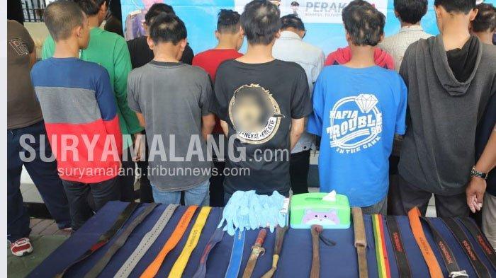 Polisi Tangkap 31 Anggota Geng Kampung Jawara yang Hendak Tawuran di Jalan Kalimas, Surabaya