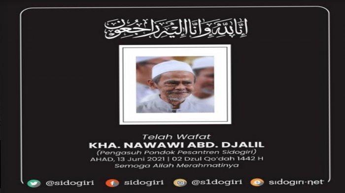 WK DPRD Jatim Anwar Sadad Kenang Mendiang Pengasuh Ponpes Sidogiri Pasuruan KH Nawawi Abdul Djalil