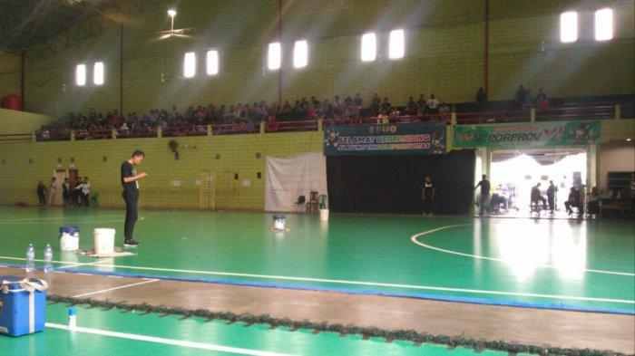 PORPROV JATIM 2019 - Venue Futsal di Tuban Bocor Akibat Hujan, Dua Laga Ditunda