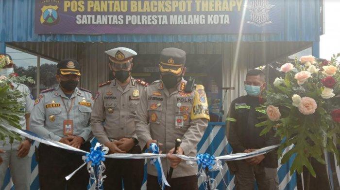 Polresta Malang Kota Resmikan Pos Pantau Blackspot Therapy, Ini Tujuannya