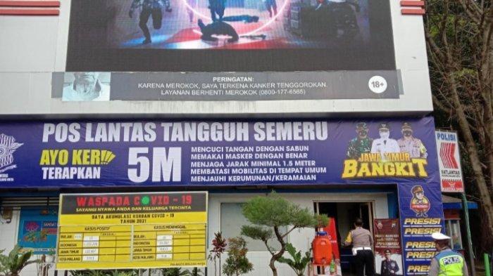 Fasilitas Pos Lantas Tangguh Semeru Kota Malang, Sedia Masker dan Hand Sanitizer