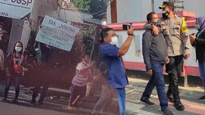 Kisah Sebenarnya di Balik Aksi Pria Bentangkan Poster Saat Kunjungan Presiden Jokowi di Blitar