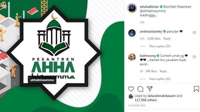 Postingan Atta Halilintar tentang pesantren AHHA BINAUMMA yang masih tahap pembangunan