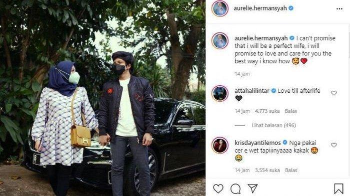 Postingan Aurel Hermansyah dikomentari Atta Halilintar dan Krisdayanti
