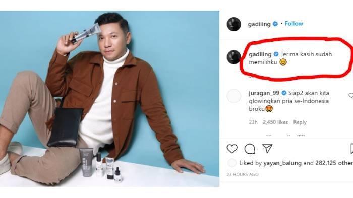 Postingan Instagram Gading Marten @gadiiing slide kedua banjir simpati netizen (akun Instagram @gadiiing)