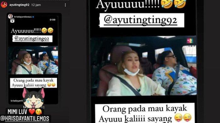 Postingan Krisdayanti di-repost oleh Ayu Ting Ting di Instagram