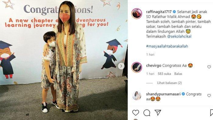 Postingan Nagita Slavina yang terharu Rafathar sudah tumbuh besar dan sekolah di Cikal