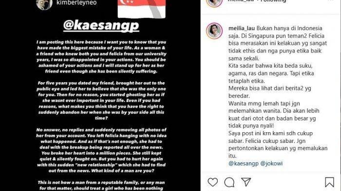 Postingan sahabat Felicia Tissue untuk Kaesang Pangarep