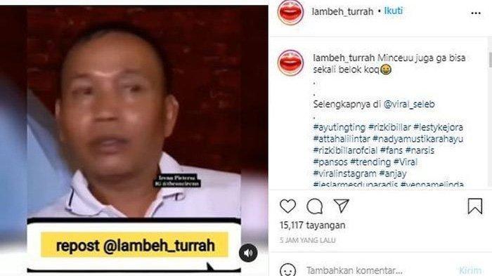 Postingan video Abdul Rozak yang viral di media sosial
