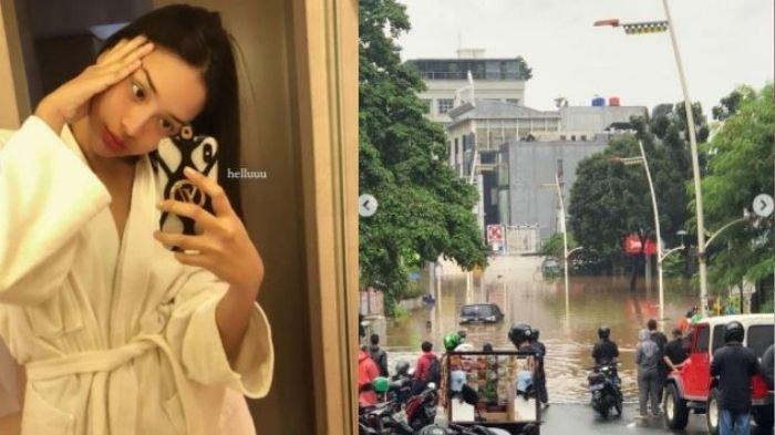 Foto-foto Artis Jadi Korban Banjir di Jakarta, Ada Irish Bella, Roy Marten hingga Anya Geraldine