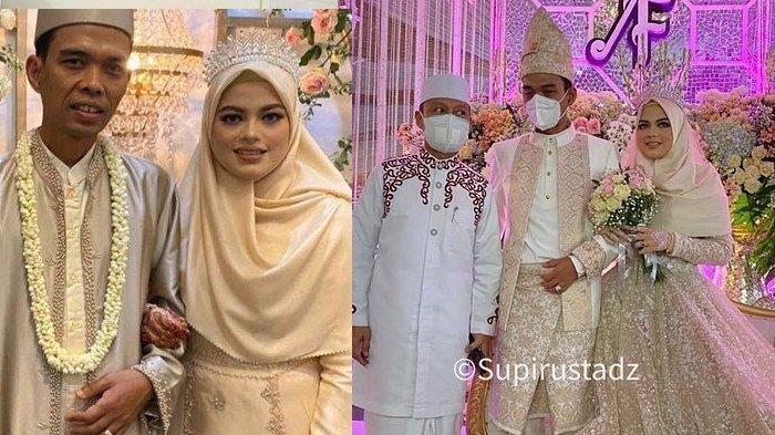Potret Fatimah di Acara Resepsi Pernikahan, Istri Ustadz Abdul Somad Bak Ratu Pakai Gaun dan Mahkota