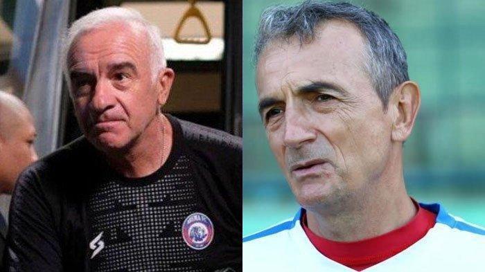 Potret mantan pelatih Arema FC, (KIRI) Mario Gomez dan (KANAN) Milomir Seslija