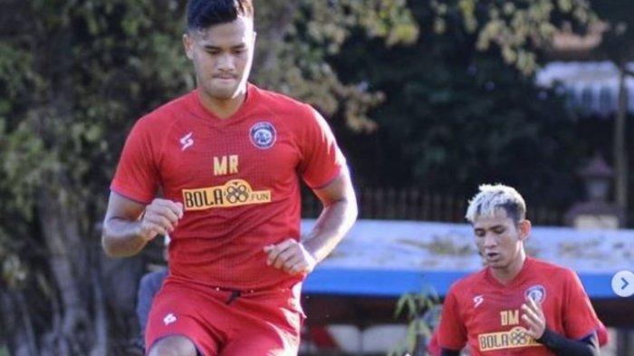 Potret pemain Arema FC saat berlatih bersama