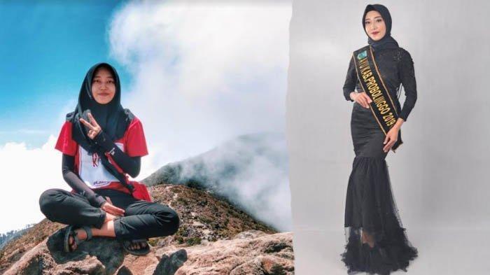 Potret Witri Sutri Yanti, Enjoy Mendaki Gunung