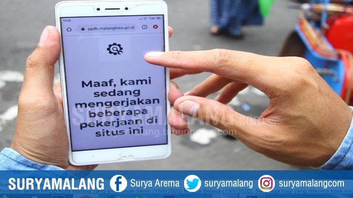 Laman PPDB Kota Malang Error Lagi, Wali Murid Tidak Bisa Daftar Ulang