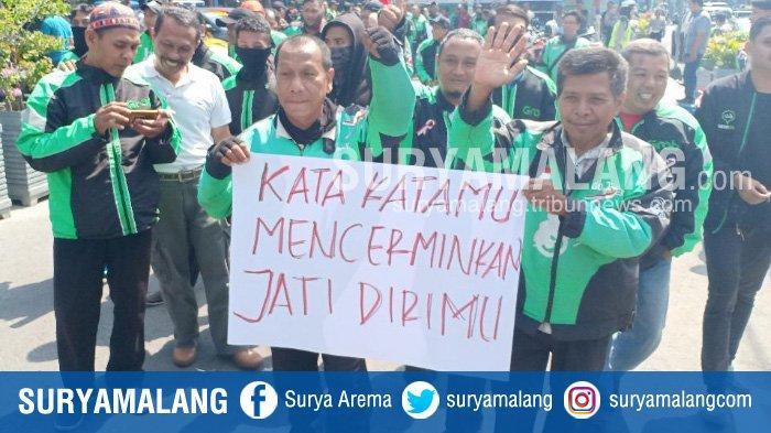Merasa Dihina, Ratusan Pengemudi Ojek Online di Kota Madiun Tuntut Prabowo Agar Minta Maaf