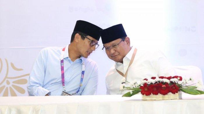 Ini yang Dilakukan Pasangan Prabowo Subianto - Sandiaga Uno Setelah Pilpres 2019