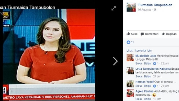 Windy Wellingtonia, Presenter TV One, Dihujat Netizen Karena Menghina Jokowi dengan Kalimat Ini