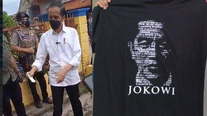 Datangi Lokasi Terdampak Gempa di Malang, Jokowi Bagi-bagi Amplop dan Kaus