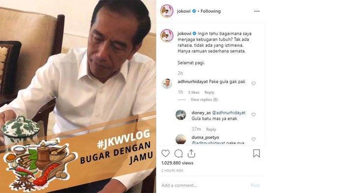 Presiden Jokowi minum jamu temulawak kunyit sebelum beraktifitas
