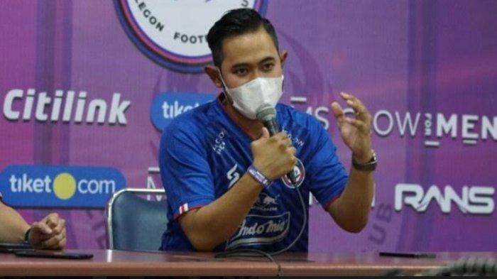 Presiden klub Arema FC, Gilang Widya Pramana