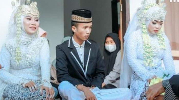 Usianya Masih 20 Tahun, Pria di Lombok Nikahi 2 Cewek Sekaligus, Kenal di Medsos dan Kisahnya Viral