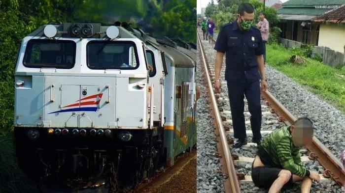 pria di Tasikmalaya selamat setelah ditabrak kereta api