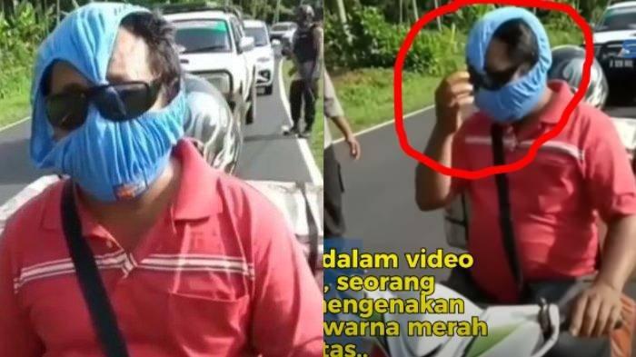Polisi Tertawa saat Tilang Motor, Bapak ini Pakai Celana Dalam Untuk Masker, Alasannya Masuk Akal