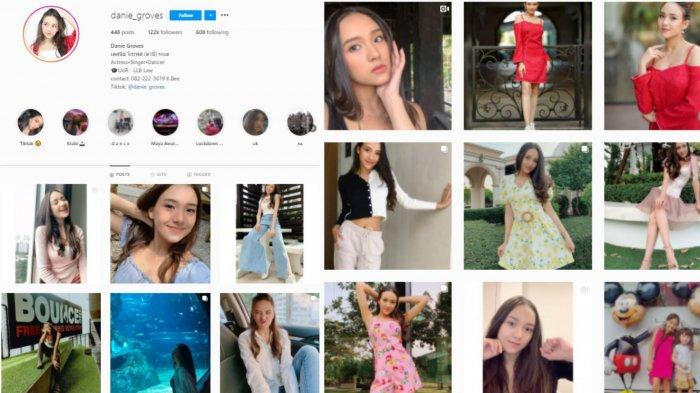 Profil akun Instagram Danie Groves viral di Youtube Fiki Naki (Suryamalang.com/kolase Instagram @danie_groves)
