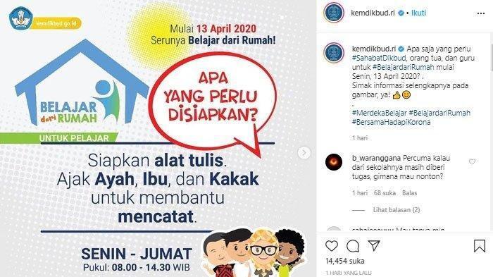 Kunci Jawaban Soal Belajar Dari Rumah Tvri Hari Ini 22 April 2020 Sd Kelas 1 2 3 4 5 6 Smp Sma Surya Malang