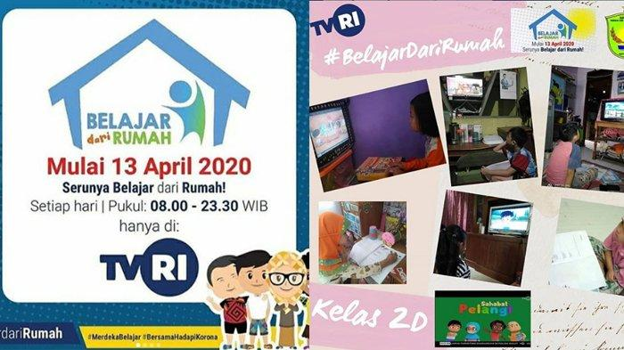 3 Link Live Streaming Belajar dari Rumah TVRI Untuk SD SMP SMA/SMK Hari Ini 13 April 2020 Jam 8 Pagi