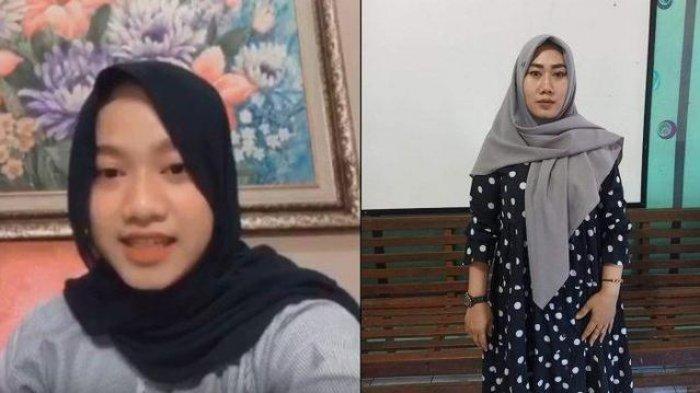 Agesti Ayu (kiri) pelapor kasus penganiayaan oleh ibu kandung di Demak. Sumiyatun (kanan) terlapor.