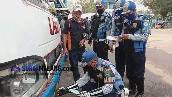 Jelang Libur Panjang, Dishub dan Polresta Malang Kota Gelar Ramp Check Bus di Terminal Arjosari