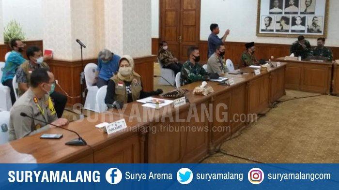 Tiga Kepala Daerah Malang dan Batu Semua Hadir di Gedung Negara Grahadi, Bahas PSBB Malang Raya