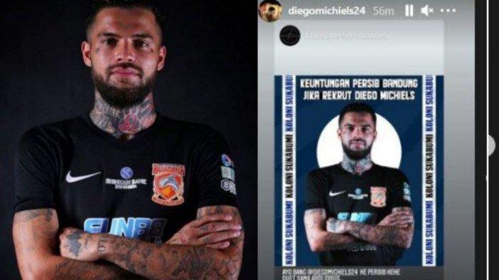 Reaksi Diego Michiels yang kian gencar dirumorkan akan bergabung dengan Persib Bandung