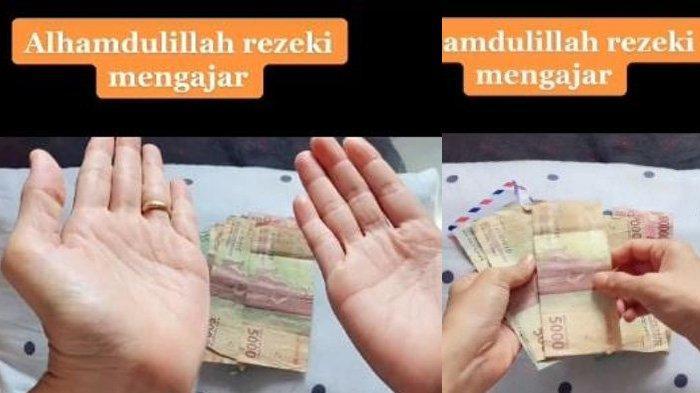 Reaksi istri bernama Dini asal Asahan, Sumatera Utara menerima gaji suami mengajar