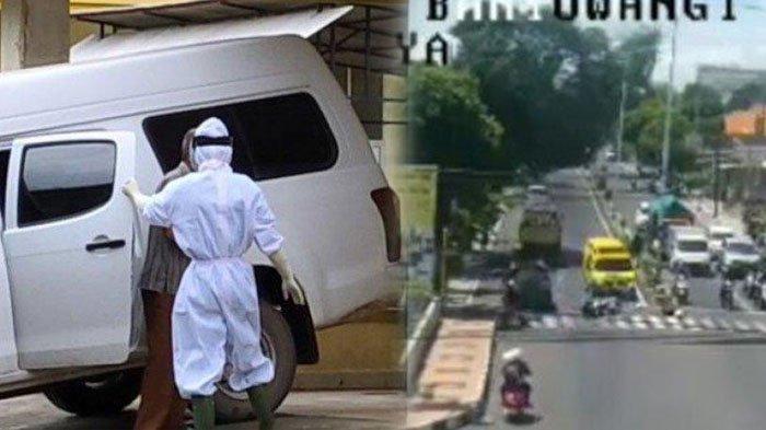 Rekaman CCTV Ambulans di Banyuwangi Tabrak Motor Saat Lawan Arus, Ternyata Bawa Pasien Covid-19
