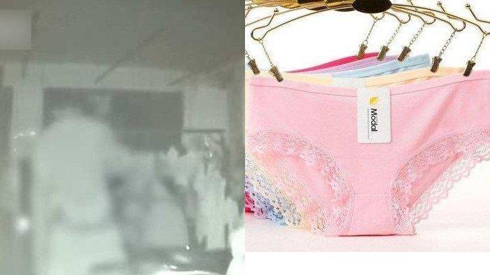 Rekaman CCTV Pria Lampiaskan Nafsu ke Celana Dalam Cewek yang Dijemur, Beraksi Saat Tengah Malam