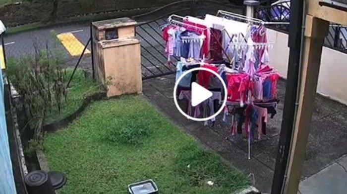 Rekaman CCTV Pria Mau Angkat Jemuran Tetangga Saat Hujan Viral di Facebook, Banyak Dipuji Baik