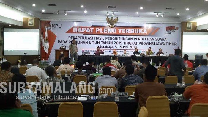 Rekapitulasi Pilpres Sementara KPU Jatim: Jokowi-Ma'ruf Menang Di 21 Daerah Dari 23 Kabupaten/Kota