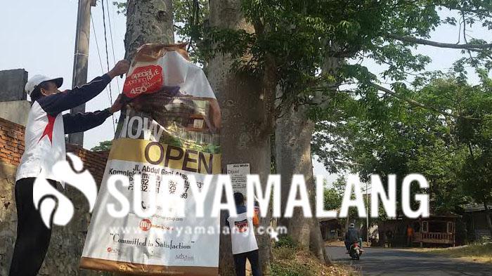 Kantor Lingkungan Hidup Cabuti Reklame di Pohon, Ini Alasannya