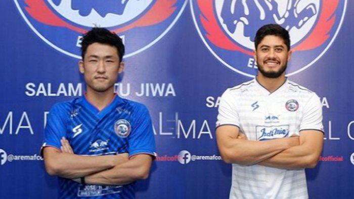 Renshi Yamaguchi dan Adilson Maringa, Sudah Resmi menjalani ritual perkenalan sebagai pemain Baru Arema FC