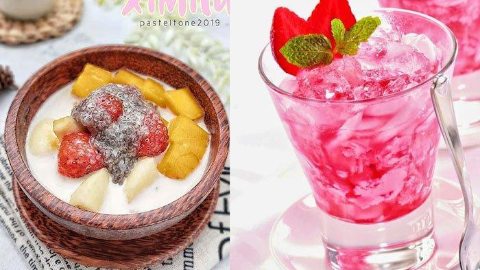 Resep Membuat Es Kopyor, Es Buah Khas Hong Kong, Es Cendol Pandan dan Es Rumput Laut Stroberi, Mudah