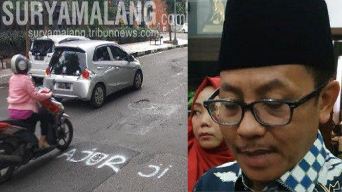 4 Respon Walikota Malang Sutiaji Terkait Tulisan 'Ajor Ji' di Jalan Berlubang & Penggalangan Koin