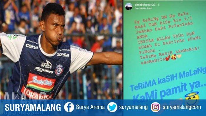 Istri Bikin Status Perpisahan dengan Suporter Arema FC, Rifaldi Bawuoh Beri Penjelasan