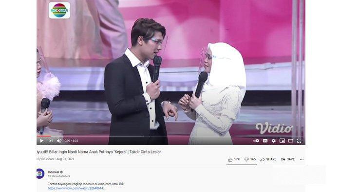 Rizky Billar dan Lesti Kejora di acara Takdir Cinta Leslar Indosiar