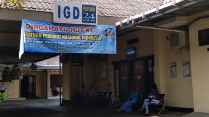 Suasana RS Hasta Husada Kepanjen tempat korban perawat yang dibakar di Malang dirawat, Kamis (6/5/2021)