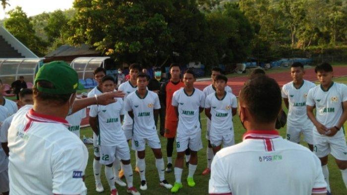 Tim Sepak Bola Jatim Wajib Menang , Hadapi Jabar di Laga Kedua Babak 6 Besar PON XX Papua 2021