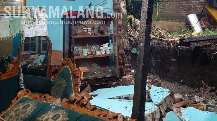 Dampak Hujan Deras di Kota Blitar, Satu Rumah dan Talud Ambrol